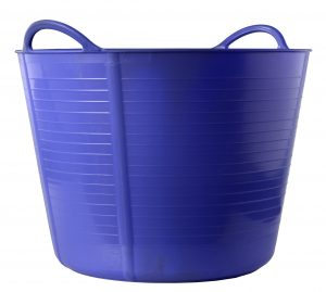 Large blue bucket